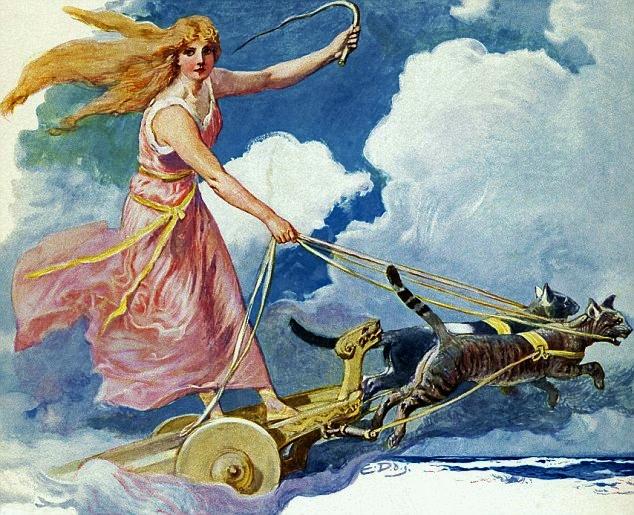 Freyja szekerét húzó macskák.jpg